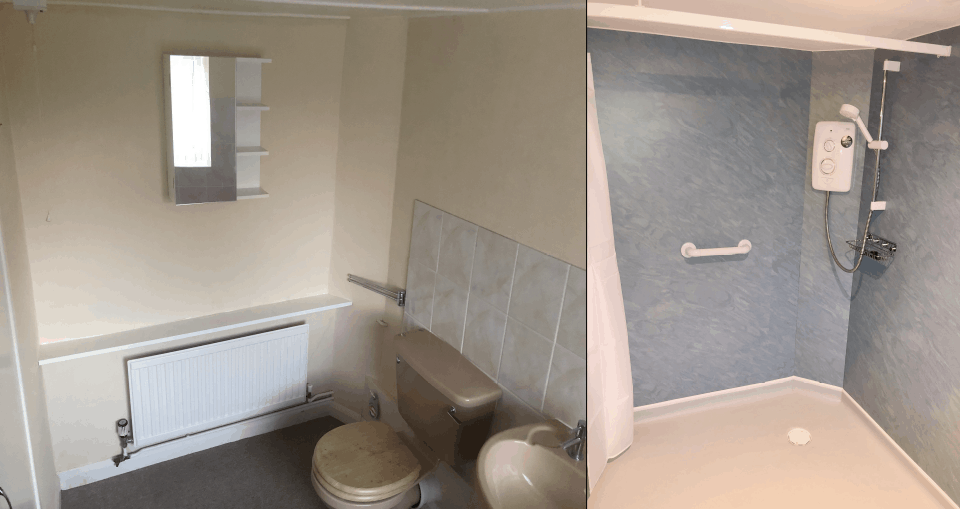 Bath Room Dryden Before After
